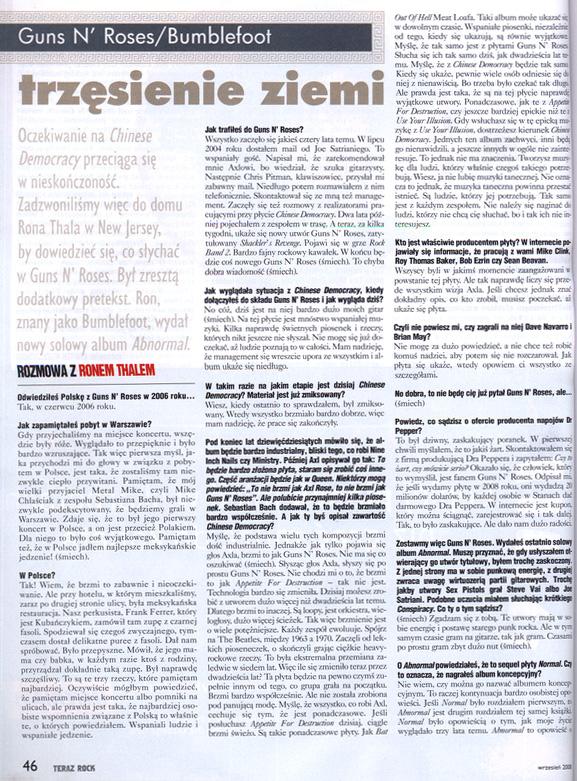 Bumblefoot interview /