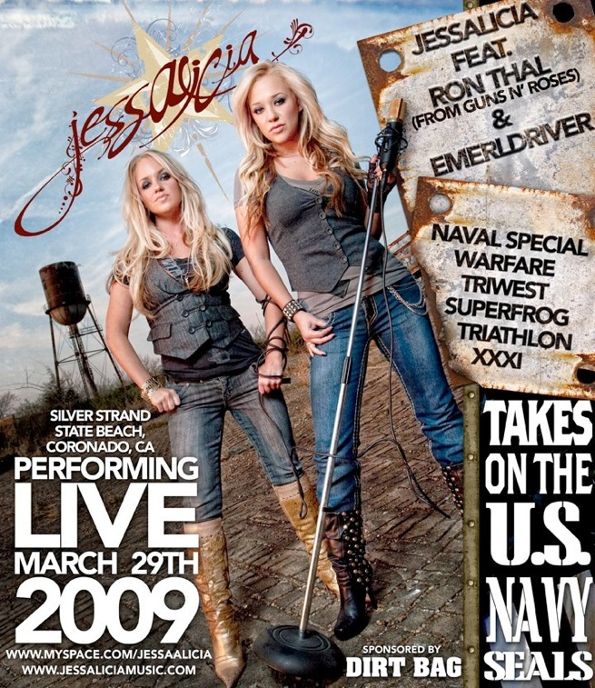 MAR 29, 2009 - Navy Seals Benefit Concert (Coronado, CA) - guest guitarist